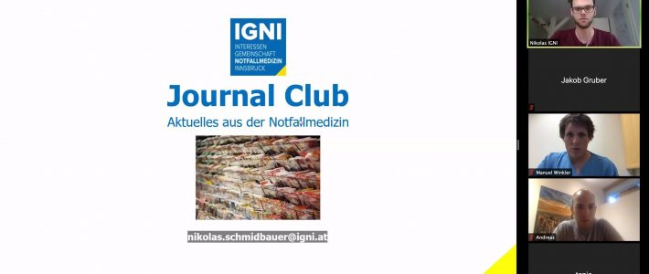 Online: Erster Journal Club