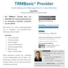 Team Resource Management® Basic Provider Online-Präsenz-Seminar von FaktorMensch®